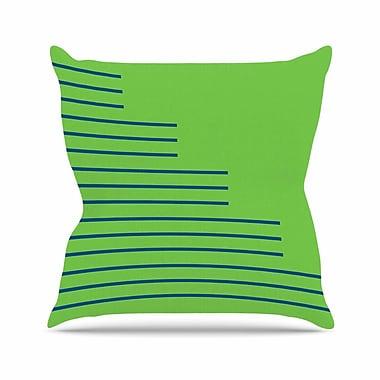 East Urban Home Trebam Stepenice V.3 Pattern Outdoor Throw Pillow; 18'' H x 18'' W x 5'' D