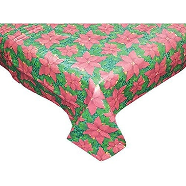The Holiday Aisle Snow Flake Vinyl Tablecloth w/ Polyester Flannel Backing