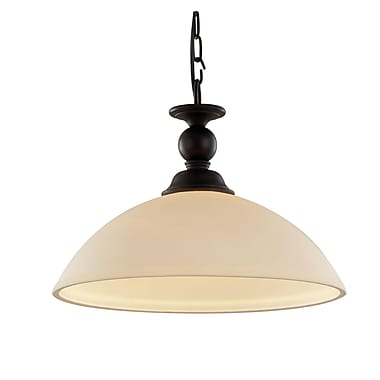 Red Barrel Studio Willowbrook 1-Light Rubbed Oil Bronze Inverted Pendant