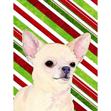 Caroline's Treasures Candy Cane Holiday Christmas House Vertical Flag; Chihuahua 5