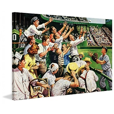 Marmont Hill Catching Home Run Ball by Stevan Dohanos Painting Print on Wrapped Canvas