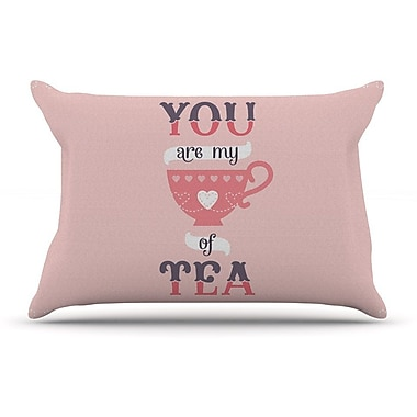 East Urban Home Daisy Beatrice 'My Cup Of Tea' Pillow Case