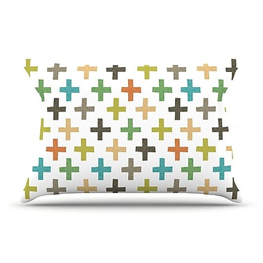 East Urban Home Daisy Beatrice 'Hipster Crosses Repeat' Pillow Case