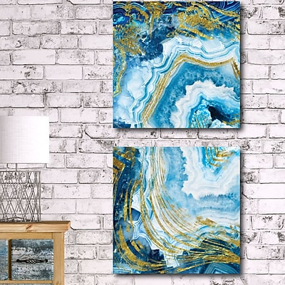 Everly Quinn 'Agate' Print Multi-Piece Image on Canvas