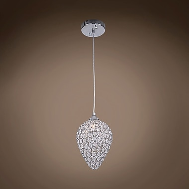 Everly Quinn Alexa 1-Light Chrome Mini Pendant