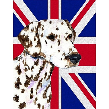 East Urban Home English Union Jack British Flag 2-Sided Garden Flag; Dalmatian (Brown and white)