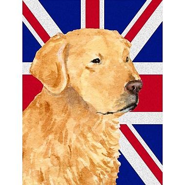 East Urban Home English Union Jack British Flag 2-Sided Garden Flag; Golden Retrieve