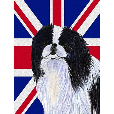 East Urban Home English Union Jack British Flag 2-Sided Garden Flag; Japanese Chin
