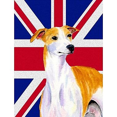 East Urban Home English Union Jack British Flag 2-Sided Garden Flag; whippet