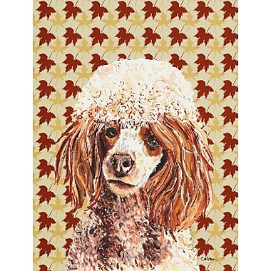 Caroline's Treasures Fall Leaves 2-Sided Garden Flag; Poodle (Beige and Cream)
