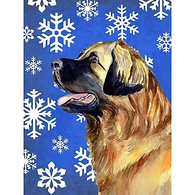 East Urban Home Winter Snowflakes Holiday 2-Sided Garden Flag; Leonberger