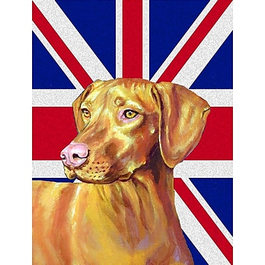 East Urban Home English Union Jack British Flag 2-Sided Garden Flag; Vizsla (Yellow and Beige)