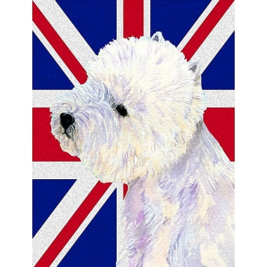 East Urban Home English Union Jack British Flag 2-Sided Garden Flag; Westie (white and Purple)