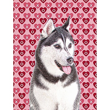 Caroline's Treasures Cooper Love and Hearts Boxer 2-Sided Garden Flag; Alaskan (White and Gray)