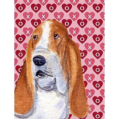 Caroline's Treasures Cooper Love and Hearts Boxer 2-Sided Garden Flag; Basset Hound 8