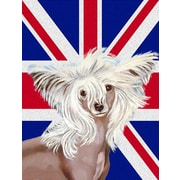 East Urban Home English Union Jack British Flag 2-Sided Garden Flag; Chinese Crested (Brown )