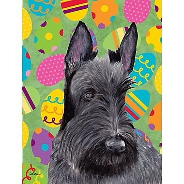 Caroline's Treasures Easter Eggtravaganza 2-Sided Garden Flag; Scottish Terrier (Gray and Black)