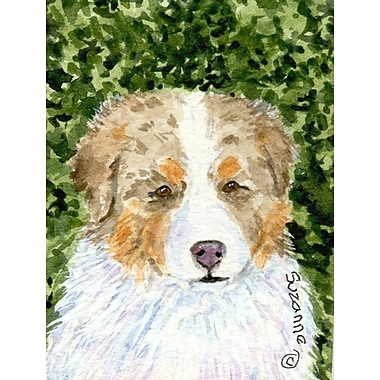 Caroline's Treasures House Vertical Flag; Australian Shepherd 5