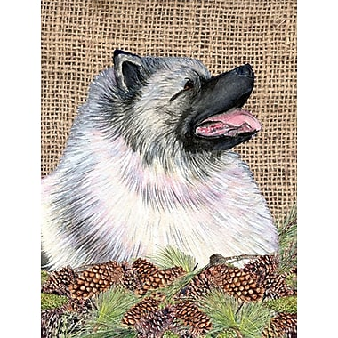 Caroline's Treasures House Vertical Flag; Keeshond