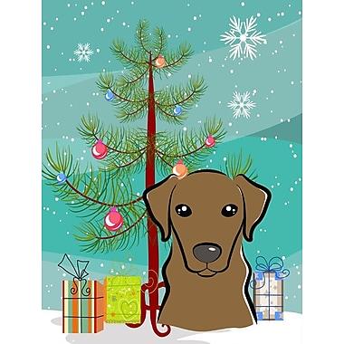 Caroline's Treasures Christmas Tree 2-Sided Garden Flag; Labrador (Chocolate)