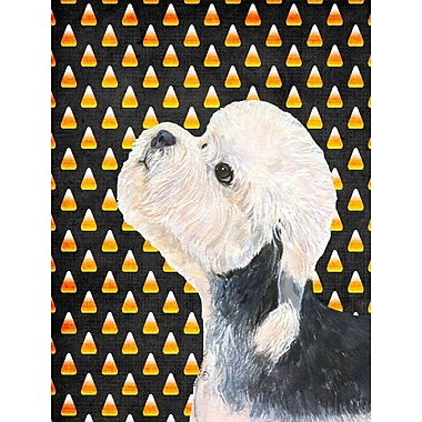 East Urban Home Candy Corn Halloween 2-Sided Garden Flag; Dandie Dinmont Terrier