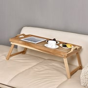 Welland Industries LLC Acacia Breakfast Bed Serving Tray w/ Handle Foldable Leg