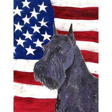 Caroline's Treasures American Flag 2-Sided Garden Flag; Schnauzer (Blue & Yellow)