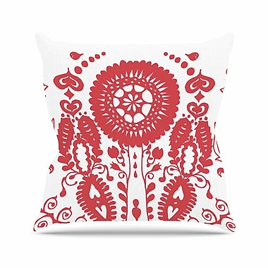 East Urban Home Luvprintz Flower Outdoor Throw Pillow; 16'' H x 16'' W x 5'' D