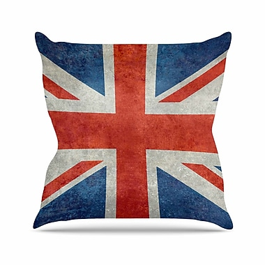East Urban Home Bruce Stanfield UK Union Jack Flag Outdoor Throw Pillow; 18'' H x 18'' W x 5'' D