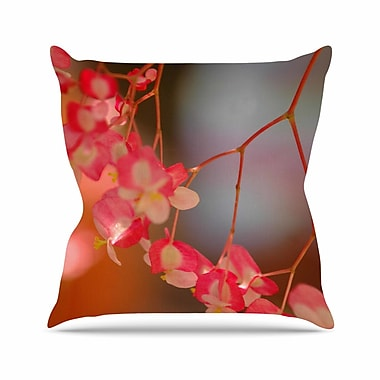 East Urban Home NL Designs Hanging Flowers Floral Outdoor Throw Pillow; 16'' H x 16'' W x 5'' D