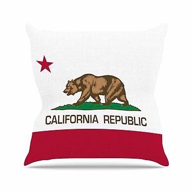 East Urban Home Bruce Stanfield California State Flag Outdoor Throw Pillow; 16'' H x 16'' W x 5'' D