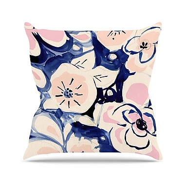 East Urban Home Crystal Walen Midnight Moon Flower Outdoor Throw Pillow; 18'' H x 18'' W x 5'' D