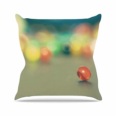 East Urban Home Sylvia Coomes Marble Bokeh Abstract Outdoor Throw Pillow; 16'' H x 16'' W x 5'' D