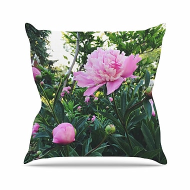 East Urban Home Chelsea Victoria Peonies Floral Outdoor Throw Pillow; 18'' H x 18'' W x 5'' D