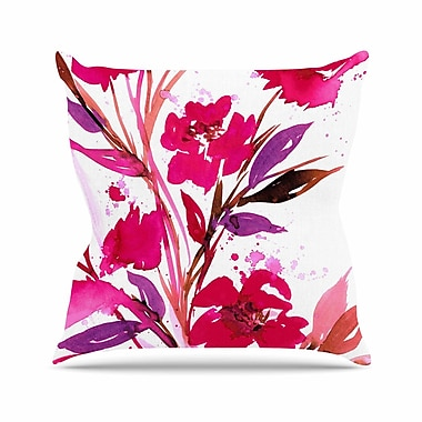 East Urban Home Ebi Emporium Pocket Full of Posies 11 Nature Outdoor Throw Pillow