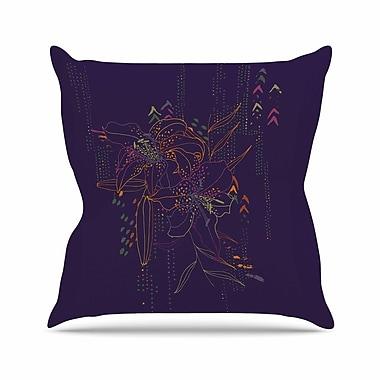 East Urban Home Karina Edde Hibiscus Abstract Outdoor Throw Pillow; 18'' H x 18'' W x 5'' D