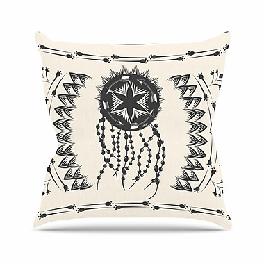 East Urban Home Famenxt Bohemian Dream Catcher Boho Outdoor Throw Pillow; 16'' H x 16'' W x 5'' D