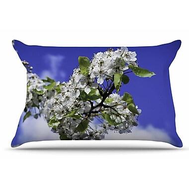 East Urban Home Nick Nareshni 'Cherry Blossoms And Sky' Pillow Case