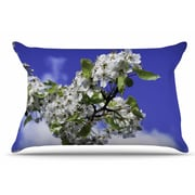East Urban Home Nick Nareshni 'Cherry Blossoms And Sky' Pillow Case