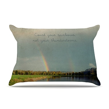 East Urban Home Robin Dickinson 'Count Rainbows' Nature Typography Pillow Case