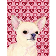 Caroline's Treasures Cooper Love and Hearts Boxer 2-Sided Garden Flag; Chihuahua (Beige and Cream)