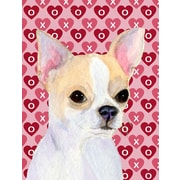 Caroline's Treasures Cooper Love and Hearts Boxer 2-Sided Garden Flag; Chihuahua (Beige)