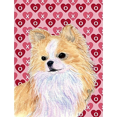 Caroline's Treasures Cooper Love and Hearts Boxer 2-Sided Garden Flag; Chihuahua (White and Cream)