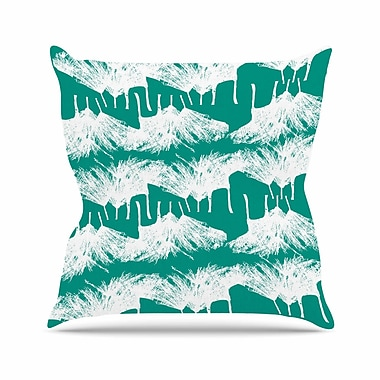 East Urban Home Love Midge Brush Abstract Outdoor Throw Pillow; 16'' H x 16'' W x 5'' D