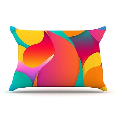 East Urban Home Danny Ivan 'Still Life' Warm Abstract Pillow Case