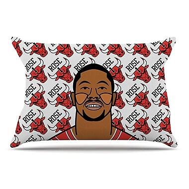 East Urban Home Will Wild 'Derrick Rose' Basketball Pillow Case