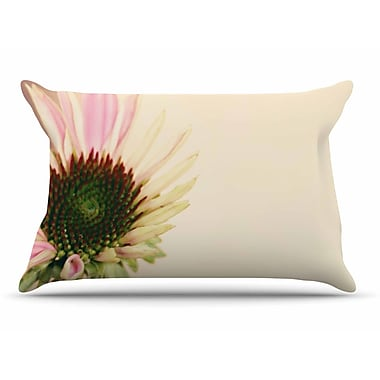 East Urban Home Sylvia Coomes 'Pink And Flower' Blush Floral Pillow Case