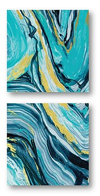 Everly Quinn 'Agate III' Print Multi-Piece Image on Canvas
