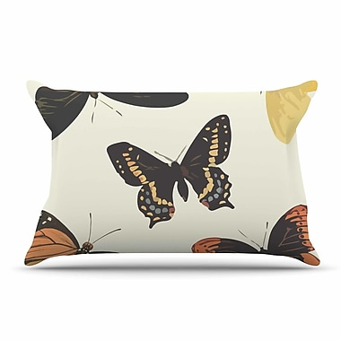 East Urban Home NL Designs 'Vintage Butterflies' Pillow Case