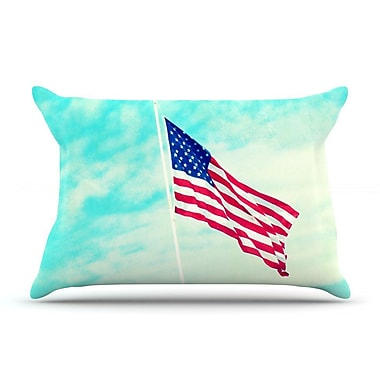 East Urban Home Robin Dickinson 'Usa Colors' Flag Pillow Case